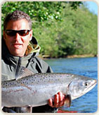 Michel Bernier, Guide at Kalum River Lodge in conjunction with Fish Skeena